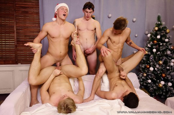 Christmas wank party