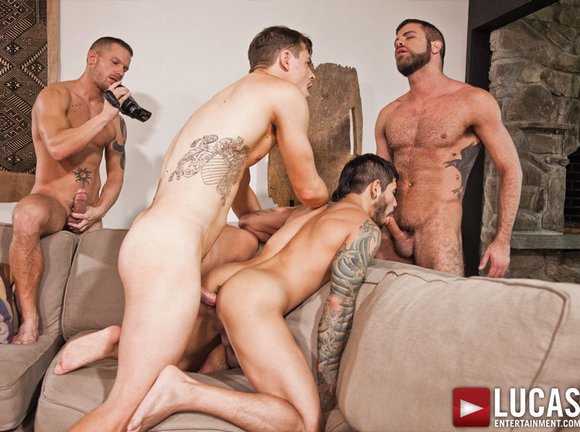 Orgy During Birthday Party Bareback-sex-fest-jed-athens-