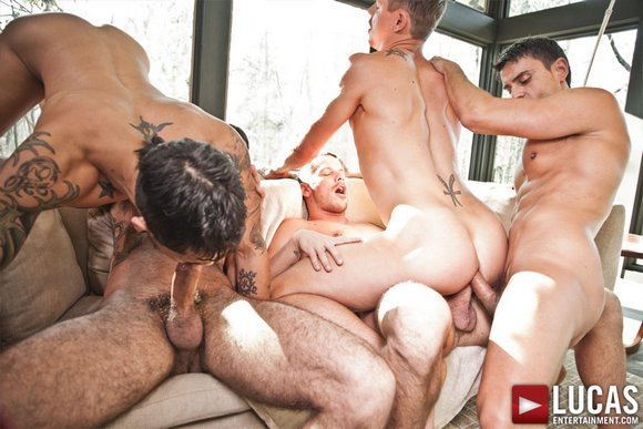 Biggest anal orgy