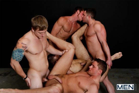Orgy in a dark room