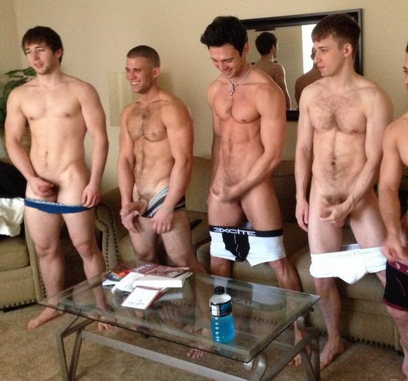 Group circle jerk off