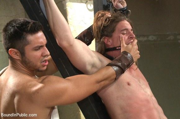 Gladiator Gay Sex Orgy Bound In Public 1