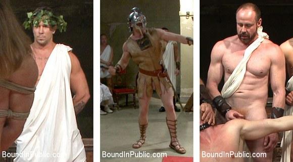 Gladiator Gay Sex Orgy Bound In Public 2