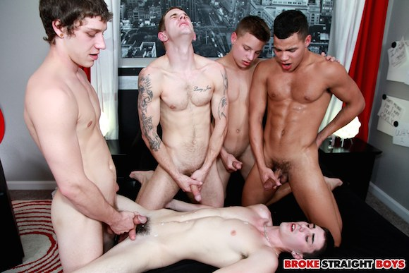 Orgy straight male