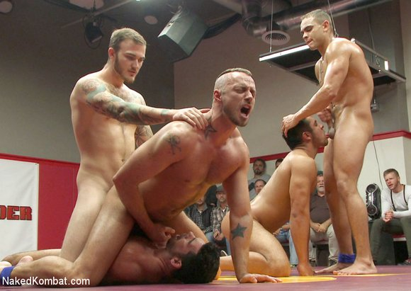 NakedKombat Christian Wilde Billy Santoro Jessie Colter Brock Avery Seth Santoro