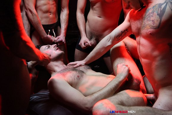 Riley Tess Satanic GangBang UK Naked Men 8