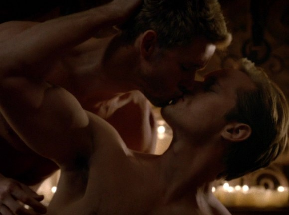 Alexander Skarsgard Ryan Kwanten Gay Kiss True Blood