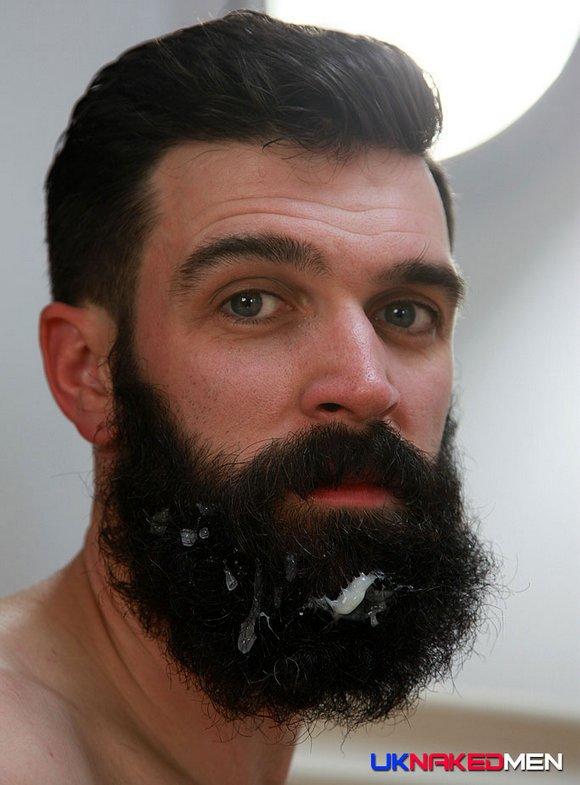 Tom Long Gay Porn Star UK Naked Men Beard Cum