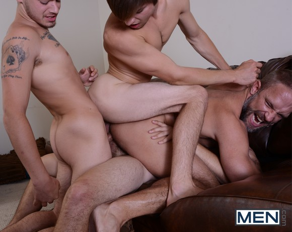 Dirk Caber Triple Penetrated Johnny Rapid  Asher Hawk Trevor Spade