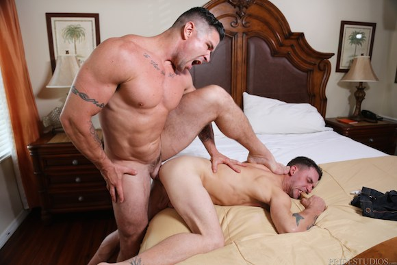 image Hunky twink slave gives head to a mature sm s