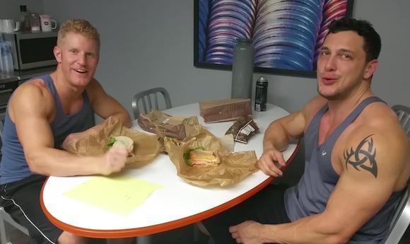 Johnny V Joey D Bodybuilder Gay Porn Stars Lunch