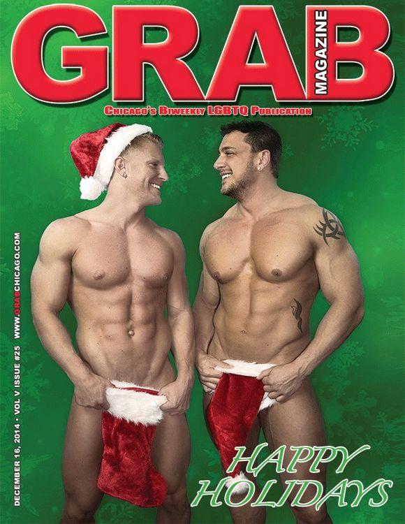 JoeyD JohnnyV Bodybuilder Gay Porn Star Xmas GrabMag