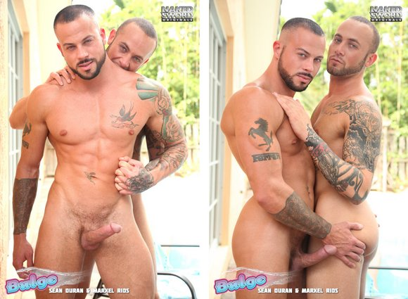 Ferrari Tattoo Porn - Sean Duran & Marxel Rios: Tattoo Fuck Fest in BULGE Scene 1