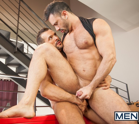 Beautiful naked muscular gay men eating cum 5