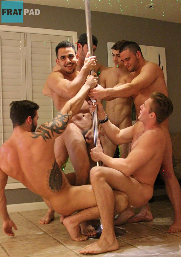 Naked gay men dancing