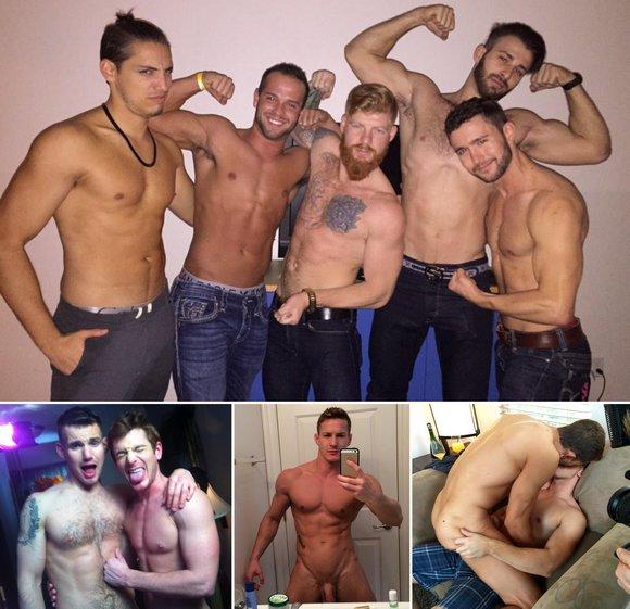 Gay Porn Stars BTS Luke Adams Brent Corrigan Darius Ferdynand
