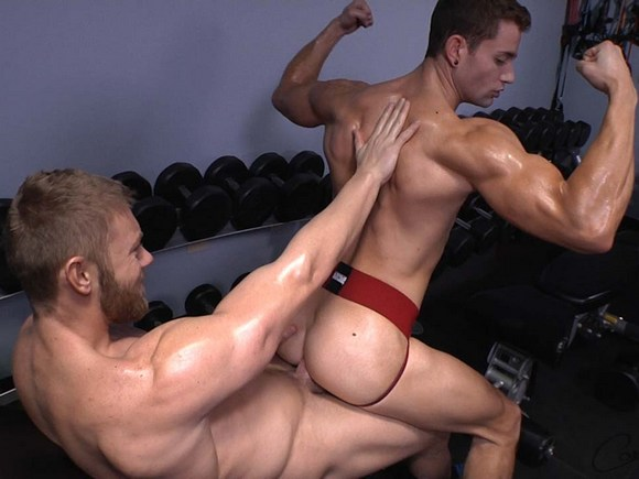 Gym gay men kiss tube