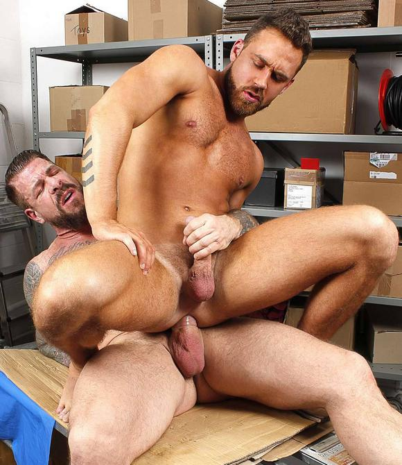 Rocco steele nails his massive rod bb