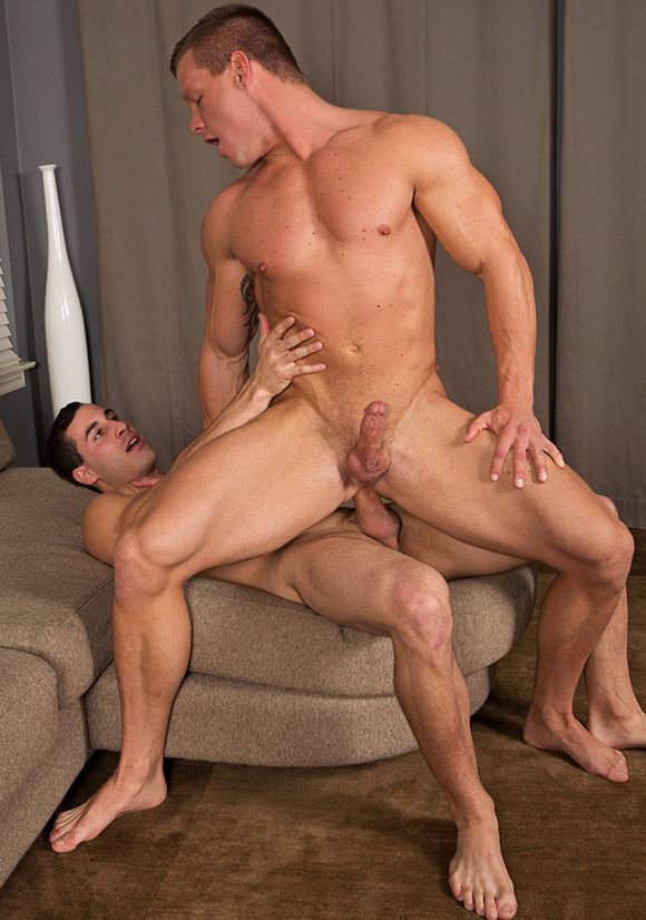 gay anal sex with two super studs