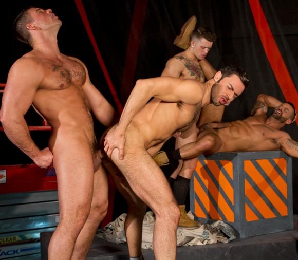 Sebastian Kross Derek Atlas David Benjamin Dario Beck Gay Porn Orgy Clusterfuck
