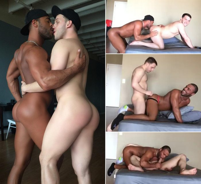 Interracial sex clip