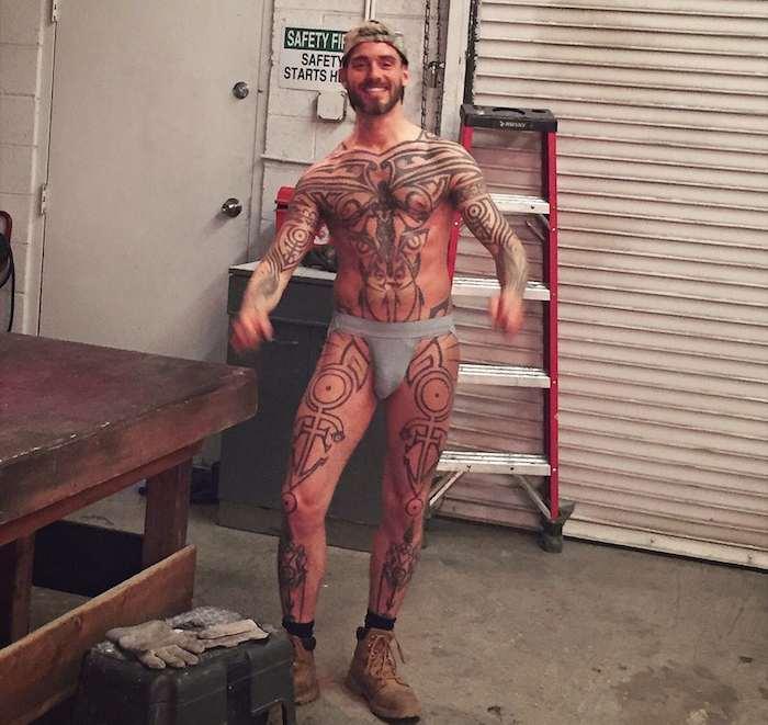 Logan McCree Gay Porn Star Tattoo 2015