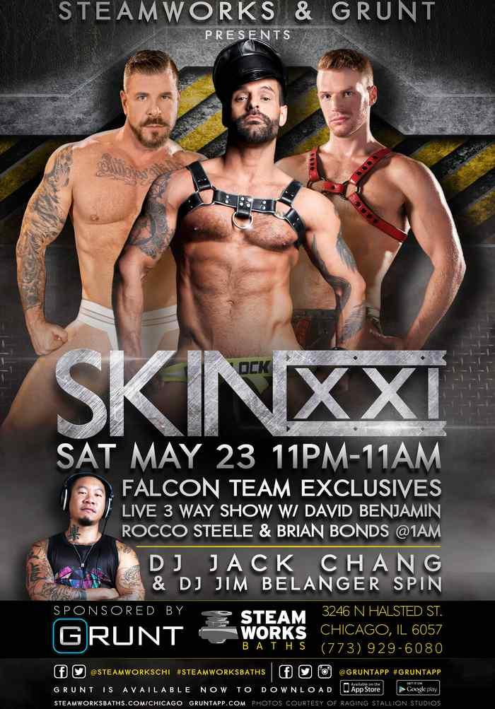 Rocco Steele David Benjamin Brian Bonds Gay Porn Stars Steakworks Live Show SKINXXI