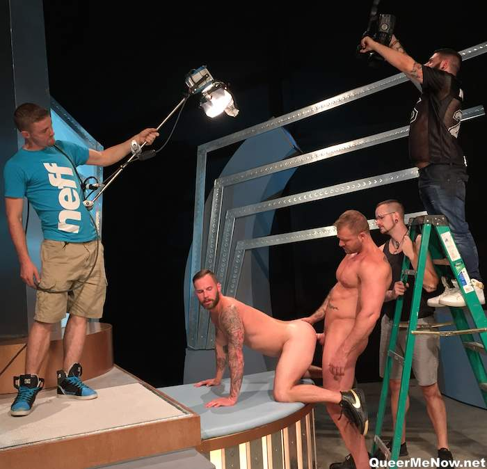 gay porn set It's  actually pretty hard to get an maintain an erection on set.