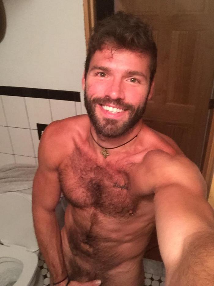 Xavier Jacobs Naked Selfie Hairy Gay Porn Star 2
