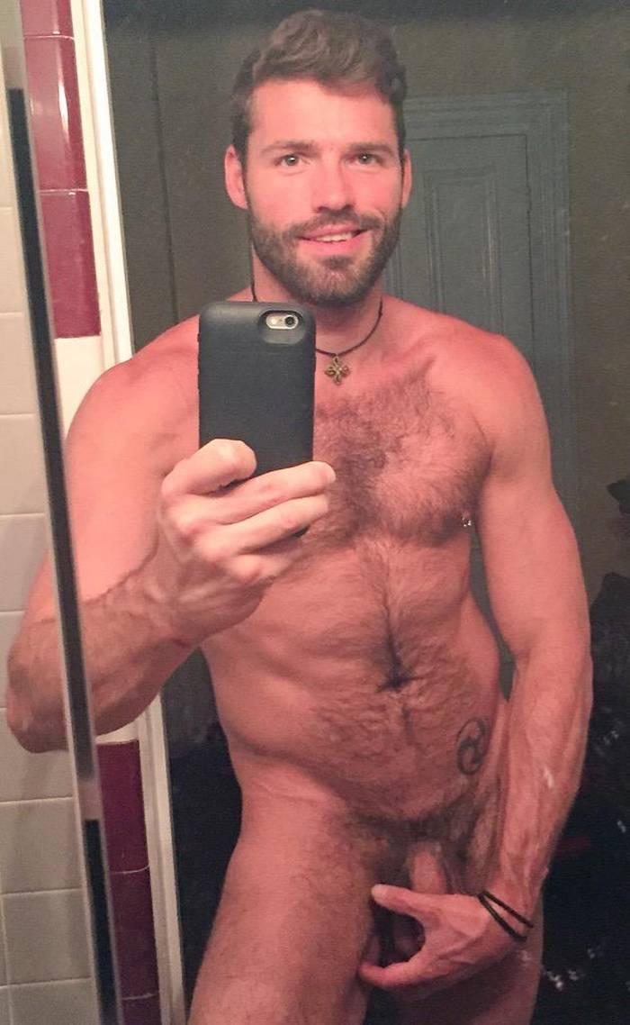 Hairy male porn star