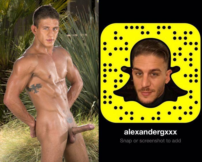Alexander Gustavo Gay Porn Star Snapchat Snapcode