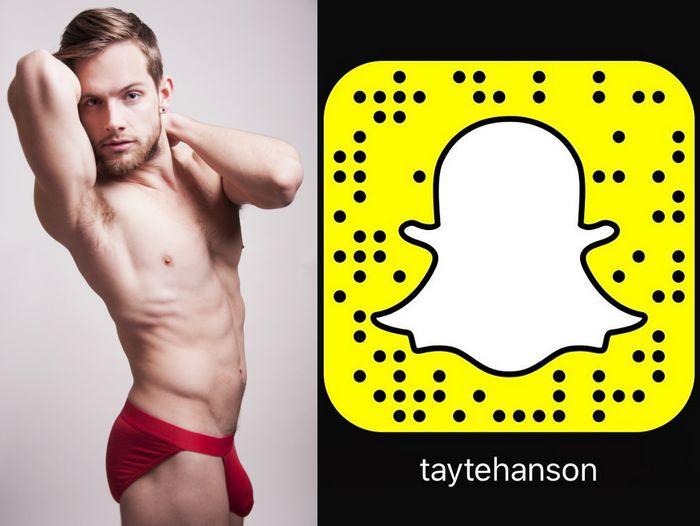 Tayte Hanson Gay Porn Star Snapchat Snapcode