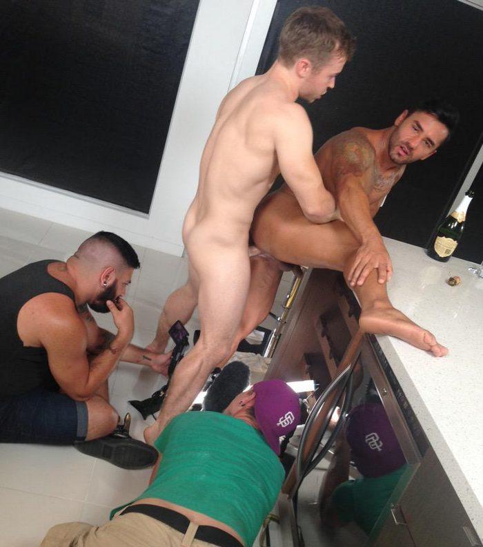 Gabriel Cross Bruno Bernal Gay Porn BTS