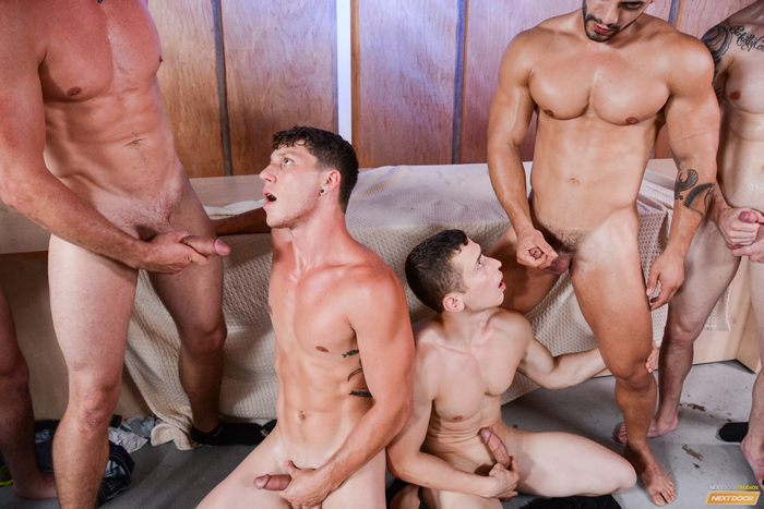 gay gorgeous hunk orgy