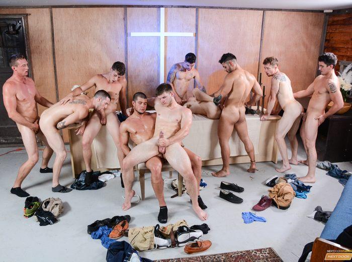 Gay orgy fest