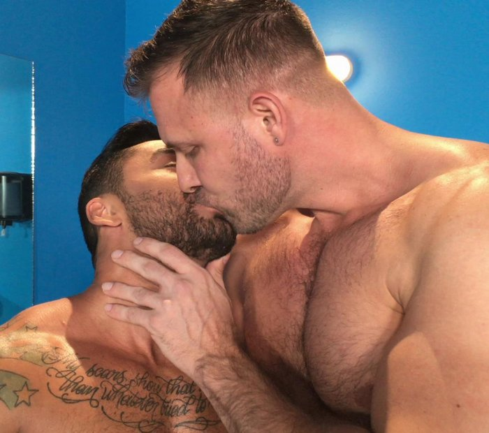 Bruno Bernal Austin Wolf Gay Porn Star Kiss