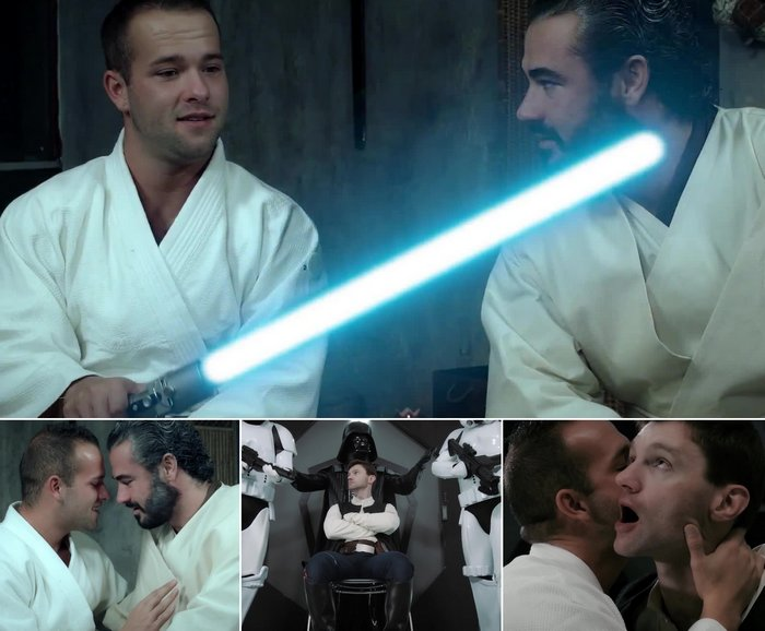Star Wars Gay Porn Parody Luke Adams Jessy Ares Dennis West