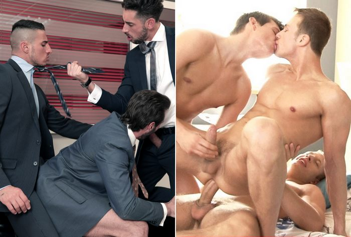 Gay Porn Threesome Sex BelAmi Menatplay