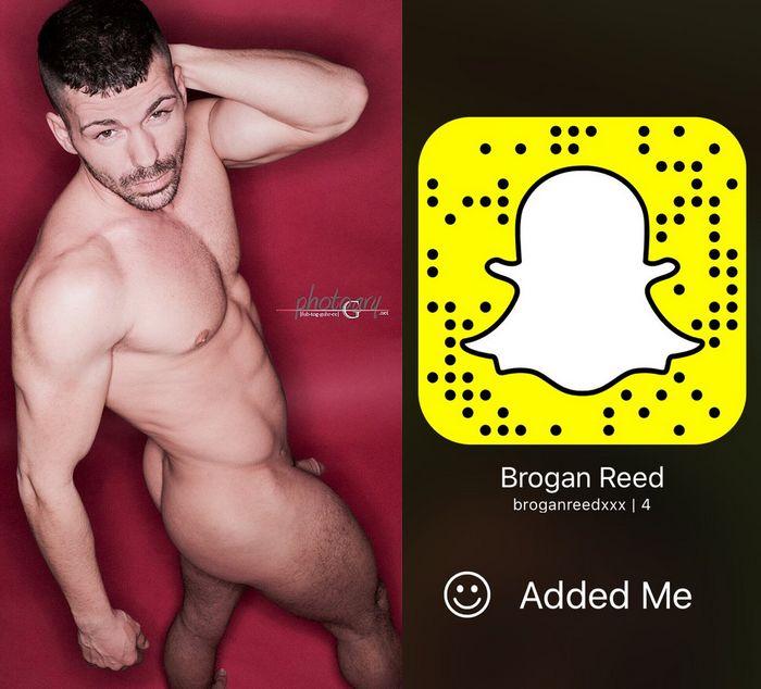 Brogan Reed Gay Porn Star Snapchat Snapcode
