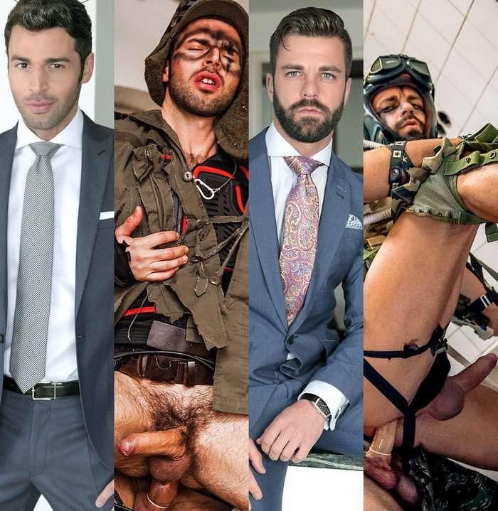 Dario Beck Hector DeSilva Gay Porn Stars Preppy Apocalypse Looks