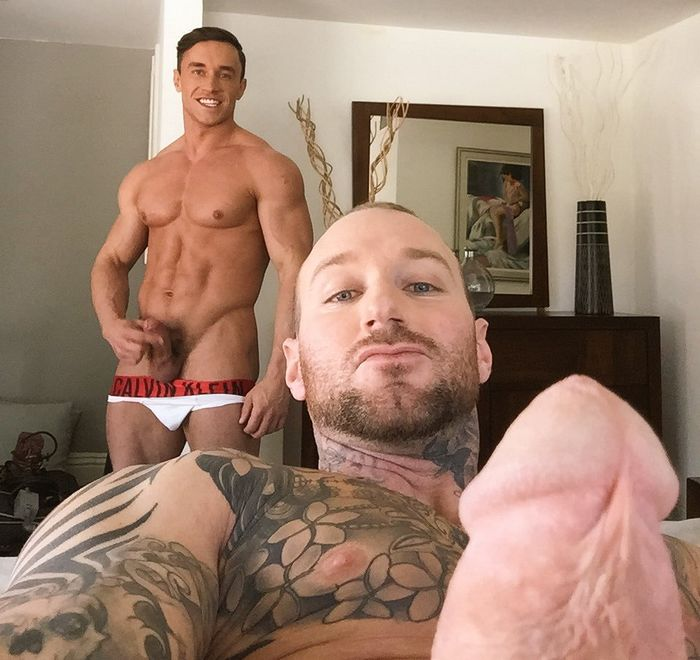 Dylan James Gay Porn Star Alexander Volkov Naked Hardon