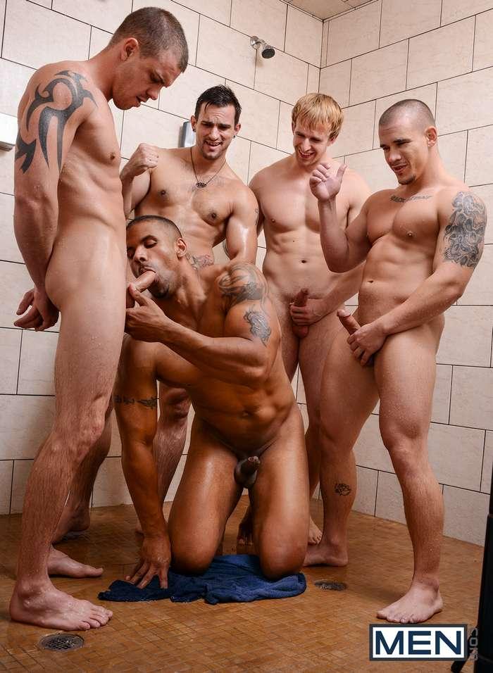 Gay football team orgy