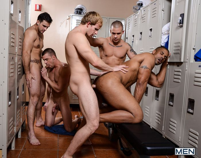 Football Orgy In Locker Room