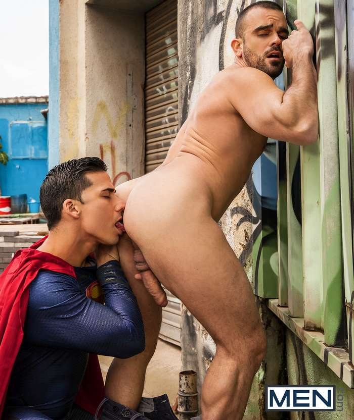 Superman Gay Porn Parody Topher DiMaggio Damien Crosse