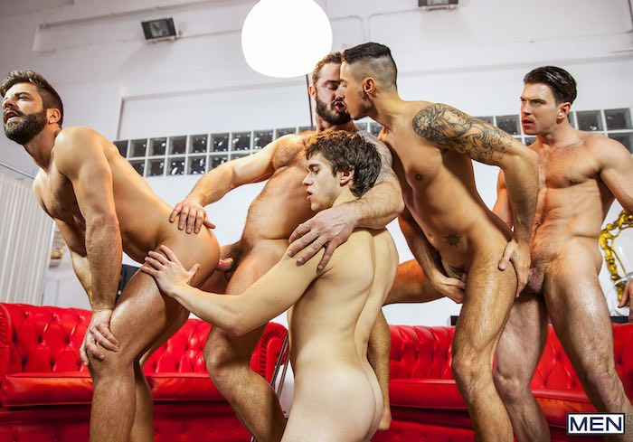 Gay Porn Orgy Paddy OBrian Jessy Ares Will Braun Hector de Silva Klein Kerr