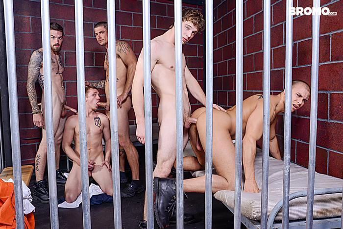 Gay Porn Prison Bareback Orgy 3