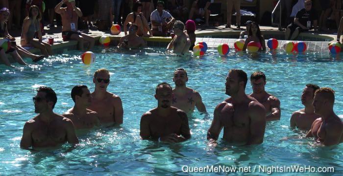 Pool full of gay porn stars