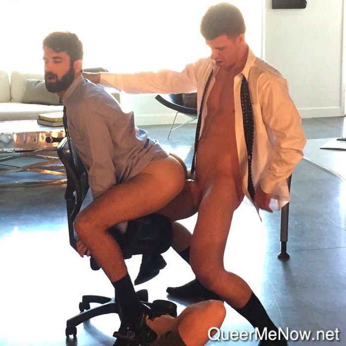 Gay porn chair