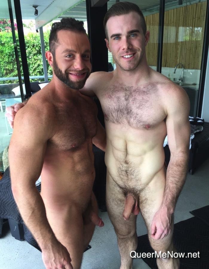 gay porn stars matthew bosch and eddy ceetee shooting porn in palm