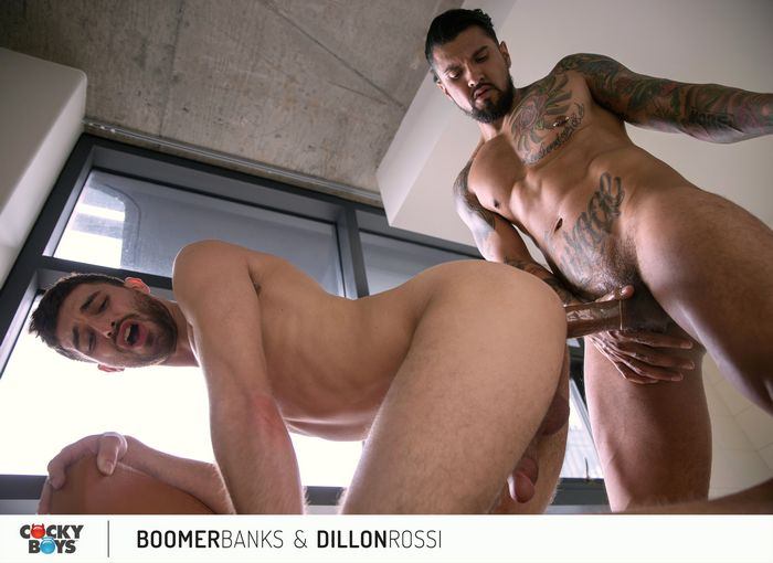 Boomer Banks Big Dick Gay Porn Star Dillon Rossi CockyBoys